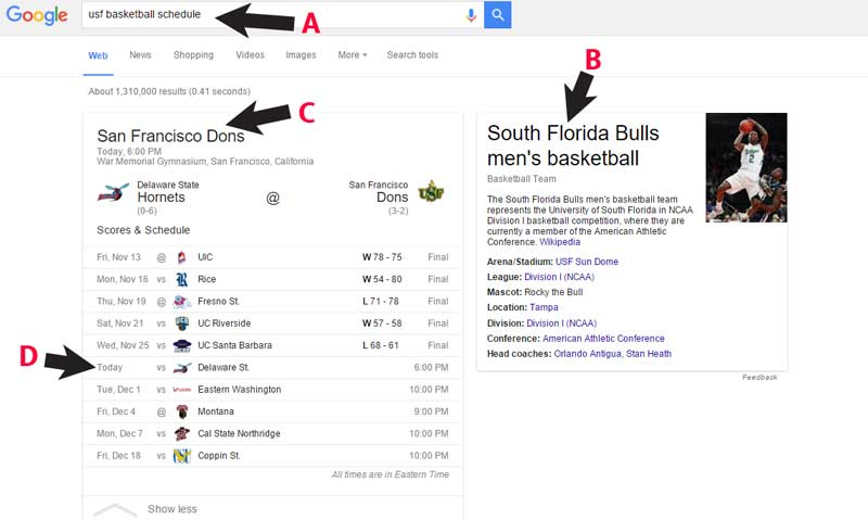 Google Search  Result Loses the Game for Tampa Family